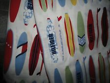 TOMMY HILFIGER FULL FLAT SHEET SURF'S UP SURFBOARDS RED BLUE YELLOW COTTON