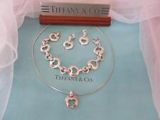 Vintage Tiffany & Co.Open Heart Link Sterling Silver Necklace,Bracelet,Earrings