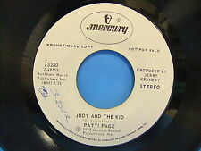 Patti Page 45 LOT Jody And The Kid 1972 Mercury 73280, The Voice Inside 70766x45