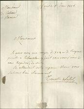 PARIS LETTRE COMMANDE TISSU MAISON TRUELLE & LEFORT 1816