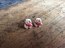 Gingerbread Man Men Stud Earrings Christmas Cute Handmade Gift Party Candy