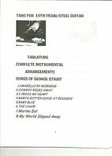GEORGE STRAIT SONGS TABS FOR E9th Pedal Steel Guitar