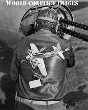USAAF WW2 B-17 Bomber Tail Gunner's Crew Jacket 8x10 Photo 95th BG WWII