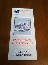 Vintage AAA Connecticut Motor Club Emergency Road Service Rules And Regulations
