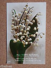 R&L Postcard: Greetings, Birthday, Floral, Many Happy Returns