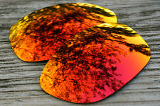 Fire Orange Red Custom Mirrored Replacement Sunglass Lenses for Oakley Pit Bull