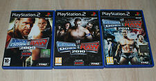 sony playstation 2 lot de 3 jeux smack down complet pal ps2