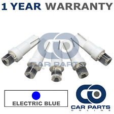 5X T5 286 74 17 18 BLUE INSTRUMENT INDICATOR DASHBOARD SPEEDO CONCAVE LED BULBS