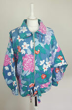 VTG FORAL RETRO 90S AZTEC SKI COAT JACKET BRIGHT FESTIVAL WINDBREAKER UK 8-10