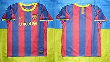 ● RARE FC BARCELONA SEASON 2010/2011 HOME JERSEY NIKE SIZE BOYS (6-7 YEARS) L ●