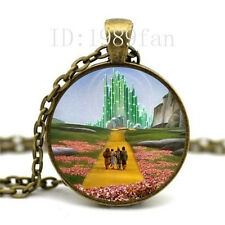 Wizard of Oz Necklace- Emerald City Necklace Glass Photo cabochon