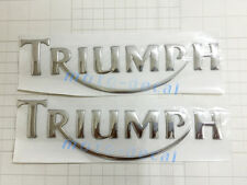Triumph Raised 3D Emblem Silver Fairing Decal Triumph Tri Tiger 800XC/Rocket III