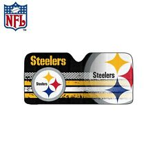 New NFL Pittsburgh Steelers Windshield Folding Auto Front Sun Shade Large Size