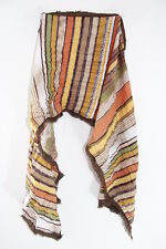 TRIBAL INSPIRED BROWN MULTI COLOR STRIPED ABSTRACT BOLD UNIQUE SCARF(MS21)