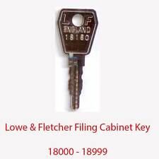 Lowe & Fletcher Replacement Filing Cabinet Key 18000 - 18999