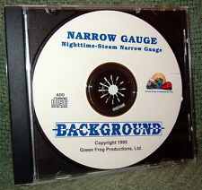 "56013 MODEL RAILROAD SOUND EFFECTS AUDIO CD ""NARROW GAUGE STEAM NIGHT"""