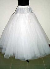 Lager Weiß Reifrock Petticoat Unterrock OHNE Reifen Ohne Ringe Tüllrock 110cm