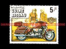 HARLEY DAVIDSON FLHTC 1340 Electra GIide - Guinée BISSAU : Timbre Poste Moto
