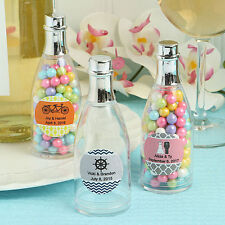 100 Personalized Champagne Bottle Plastic Box Wedding Favor - Free US Shipping