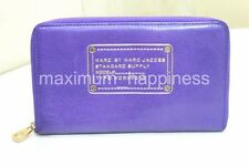 MARC BY MARC JACOBS POSTAL TRAVEL XL ZIPPY LEATHER WALLET - AUTHENTIC