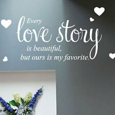 Every Love Story Wall Quote Stickers Wall Decals Words Letterings 33