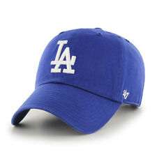 '47 Brand Los Angeles LA Dodgers CLEAN UP Strapback Dad Hat Cap All Blue/White