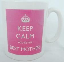 Keep Calm You're the Best Mother Mug Pink Mug Perfect Gift Hand Decorated UK