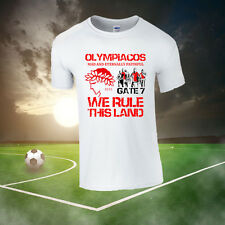 OLYMPIAKOS GATE 7 T-SHIRT (ALL SIZES AVAILABLE) GREECE, ULTRAS, FOOTBALL