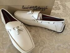 Natazzi Mens Air Grant Driver Leather Shoes Driving Slip-On Loafer SZ 11 White