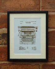 Patente de EE. UU. Dibujo Tinta de escritura de oficina de máquina tipo escritor montado de impresión de 1899