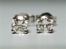 .33 CT F VVS2 DIAMOND STUD EARRINGS 14K SOLID GOLD $1,899.00