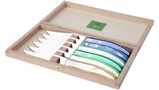 CLAUDE DOZORME Laguiole French 6-STEAK KNIFE Berlingot Hostess Gift Box Set New