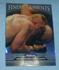 Brock Lesnar UFC 2011 Topps Finest Moments Refractors Card FM-BL 139/288 WWE 100