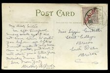 Portugal Cabo Verde PPC 1915 to Wales 20 Republica ovpt S. Vincent postmark