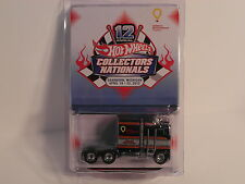 2012 Hot Wheels Nationals Thunder Roller Semi Black w/RR Real Riders #1362//1500