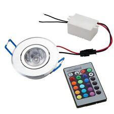 3W 12V LED Einbaustrahler Einbauleuchte Deckenlampe Decken Spot RGB mit J5