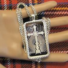 New Sterling Silver faith bullion pendant with 1oz fine silver ingot & chain