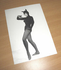 BETTY PAGE Queen of Burlesque Erotik PIN UP Postcard MIAU SWEET KITTY catsuit