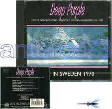 "DEEP PURPLE ""LIVE IN SWEDEN 1970"" RARE CD MADE IN ITALY - SEALED"