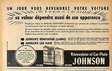 JOHNSON PRODUITS ENTRETIEN RENOVATEUR PUBLICITE ADVERTISING 1955