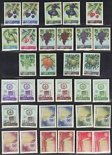 LEBANON 1960's COLLECTION OF 33 IN 4 COMPLETE SETS W/14 DIFFERENT COLOR VARIETIE