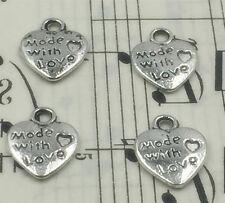 New 10PCS Antique Silver  Charm Pendant DIY For Bracelet Necklace  ^31