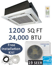 24000 BTU Ductless Mini Split Air Conditioner Heat Pump, CEILING CASSETTE