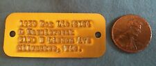 Vtg 1959 Milwaukee Co. County Wisconsin WI Dog License Tag # 2184 FREE SHIPPING!