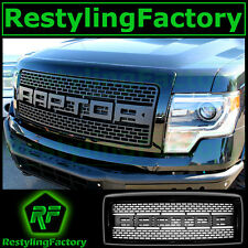 09-14 Ford F150 Raptor Mesh Matte Black Replacement Grille+Gloss Black Shell