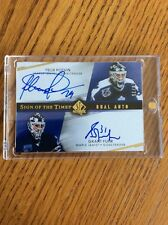 15-16 UD SP AUTHENTIC POTVIN FUHR DUAL SIGN OF THE TIMES AUTO LEAFS /25