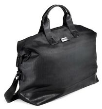 Ermenegildo Zegna BLACK Duffle Bag Weekender Travel Gym Handbag new with tag