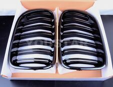 NEW GLOSS BLACK TWIN SLAT KIDNEY GRILLS BMW F25 LCI X3 SERIES M LOOK X S Drive