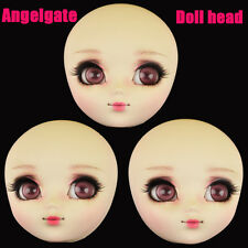 AngelGate OOAK Girl Doll Head-Flash-fit for Obitsu and Pullip body