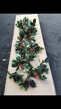 20 Plastic Holly Wired Picks Stem Christmas Berries Greenery Wreath Foliage Sale